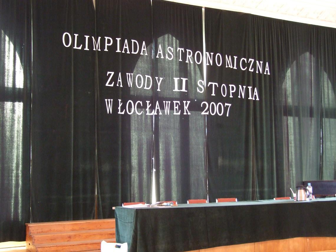 Galeria: L Olipiada Astronomiczna etap okręgowy Włocławek 8.01.2007