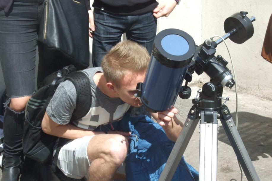 Galeria: Merkury na Słońcu - w I LO (9.05.2016)